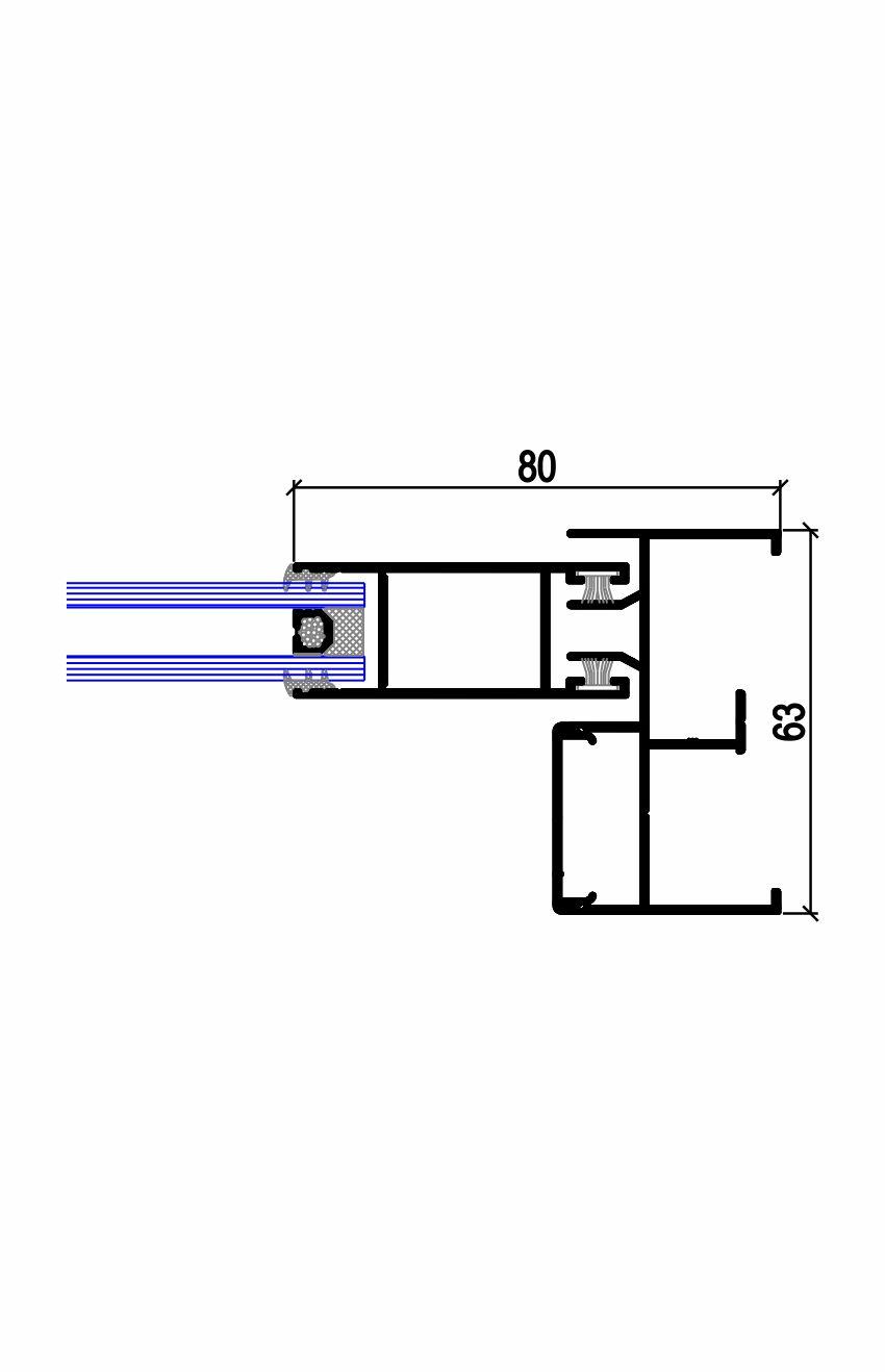 Sección lateral C.19 T (65) Simer