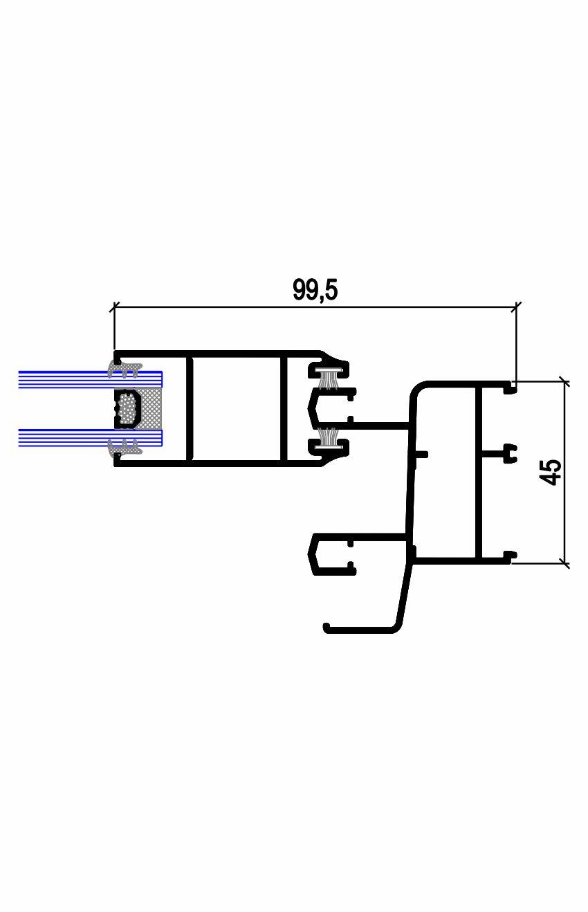 Sección lateral estrecha C.22 T (45-71) Simer