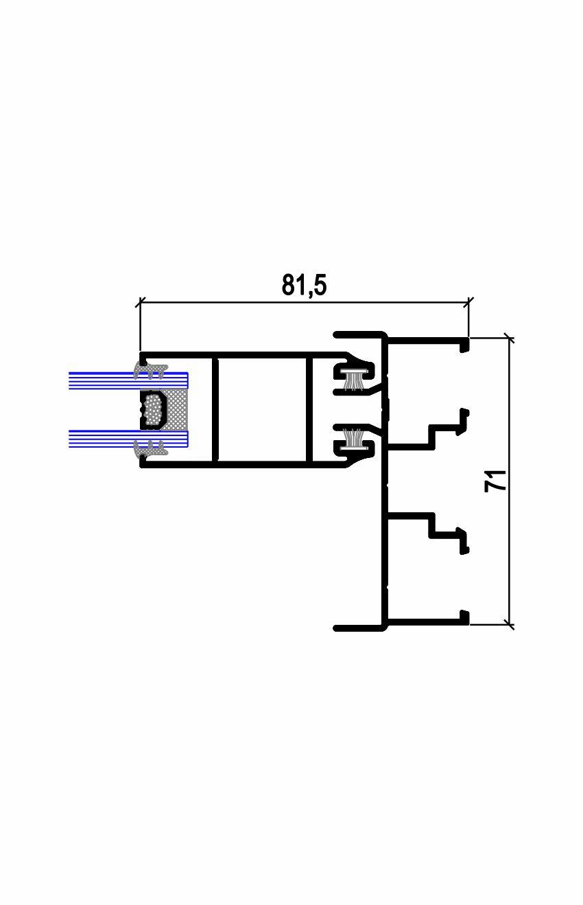 Sección lateral ancha C.22 T (45-71) Simer