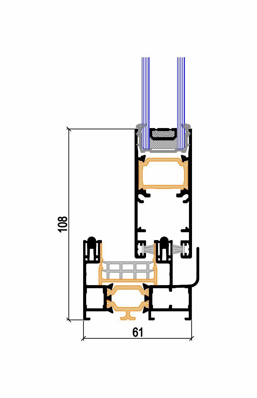 Marco inferior hoja perimetral C.29 TP RPT (50-61) (Serie 6900) Simer