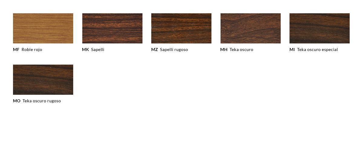 Tabla de acabados lacados con efecto madera (2)