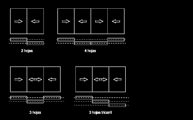 aperturas correderas blanco